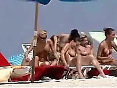 Voyeur video in nature's garb hotties at the beach showing hawt bodies milk cans and cookies
