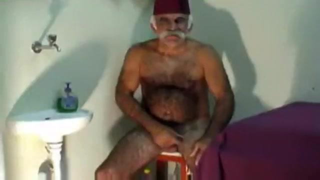 Old man hairy penis