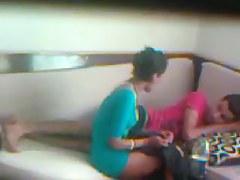 Voyeur amateur video of a chick getting massaged