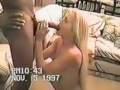 Blonde wife gets fucked by the black neighbour.