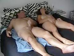 Man and woman mutual masturbation
