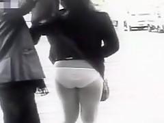 Hidden camera films ladies in mini skirts.