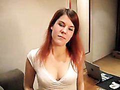 Redheaded girlfriend gives POV oral-service fun and gets facial