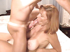 Cum in big Titted Matures face hole and Bumpers