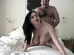 The Big Tit Busty Gal Takes Mouthful