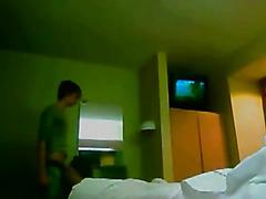 Gay hookup in a motel room