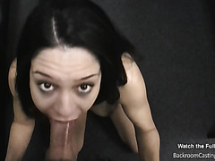 Young minx gets my cum on her face