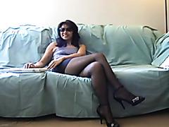 Memorial Day 2013 Webcam Play in Pantyhose & Heels.