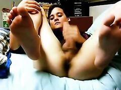 Gay masturbation with cum shots