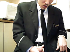 The big gay boss masturbating