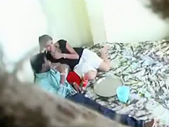 Indian bastards sneakily tape a girl fucking their friend