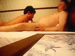 Mature couple fucks in their hotel on their korea trip