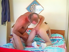 Old guy has sex with his young mistress