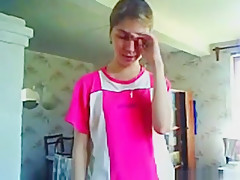 Russian girl gives her bf a blowjob and gets a facial