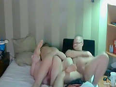 Husband jerks off while watching wife fuck