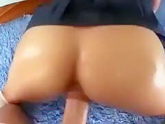 Gorgeously stunning girl with divine ass likes it from behind