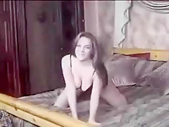 Nasty and cute busty girl on her first porn casting scene