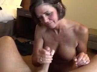 Granny takes cum