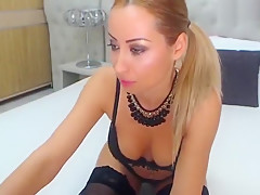 Pretty 01Anal4You in sexual black lingerie