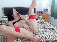 BeauReve plays with a rubber phallus