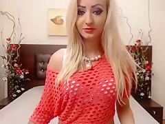 Blonde MayaFox smokes and masturbates