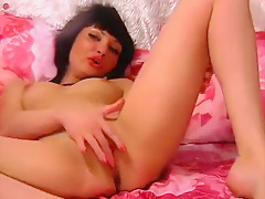 Web model from Russia BabyShy shows her pussy