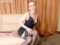 Cutie SonyaKeks fucks herself with a rubber dildo
