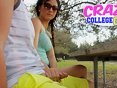 Mandy Sky in Park job - CrazyCollegeGFs