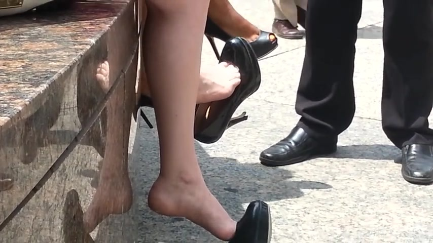 Candid heel sexy voyeur important and
