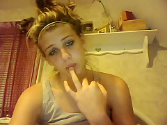 nice girl on skype