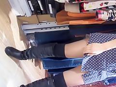 Blue sex stocking