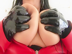 Milf leather skirt blowjob