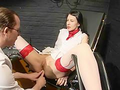 Dr Gyn s Schwanz in Arsch und Fotze