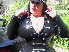 Busty Italy Uniform Lady - Strict Blowjob Handjob - Cum on my Tits