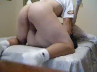 Erected dick in juicy nub