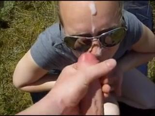 Amateur wife blowjob outdoors