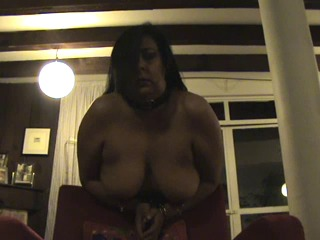 Hot broad with big tits gets spanked