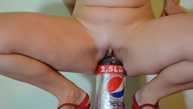 Fucking a Pepsi glass