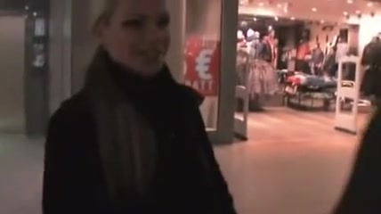 German fucks in shopping mall