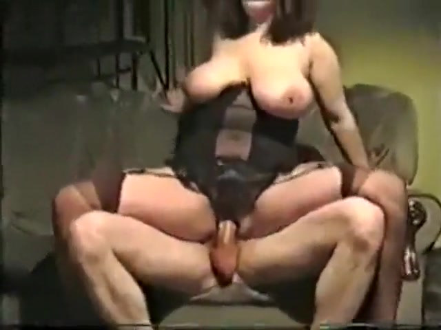 Mature couple fuck in 80s style sex tape, woman we...
