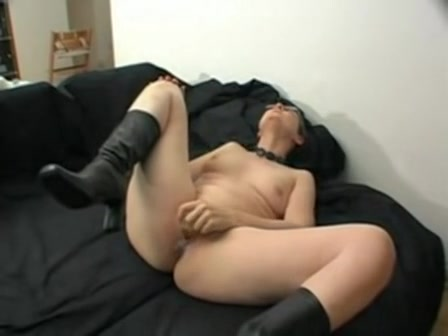 mature sabine masturbating alone