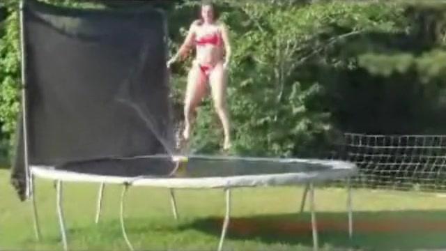 Seems women bouncing naked on trampoline joke? pity