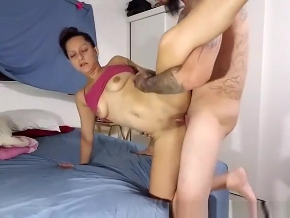 Tattooed Bitch With Shaved Pussy Fucked