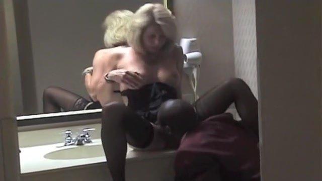 Older Golden-Haired White Wife Enjoys Engulfing Large Darksome Rod