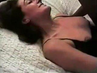 Wife Desires Dark Mate to Cum Inside Her Slit on Movie Scene