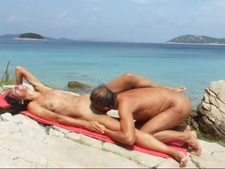 Slender Concupiscent Wife With Lengthy Hair Engulfing Dick At The Beach