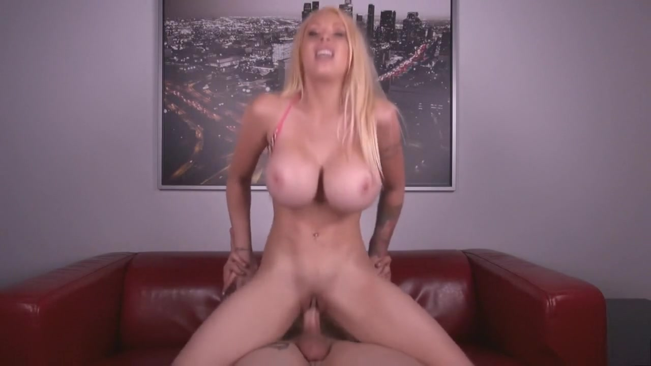 Hot girl with big tits rides cock