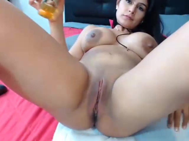 rub natural milf tits love big toy on hot pussy