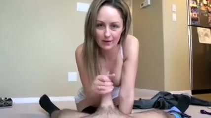 Outstanding mother i'd like to fuck wife and her soft tender hands jerking off my strapon