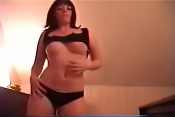My hot emo girlfriend disrobe dancing in the dining room on camera